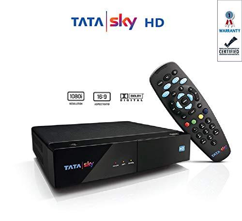 Tata Sky HD Set Top Box 1 Month Dhamaka HD Pack (Black)