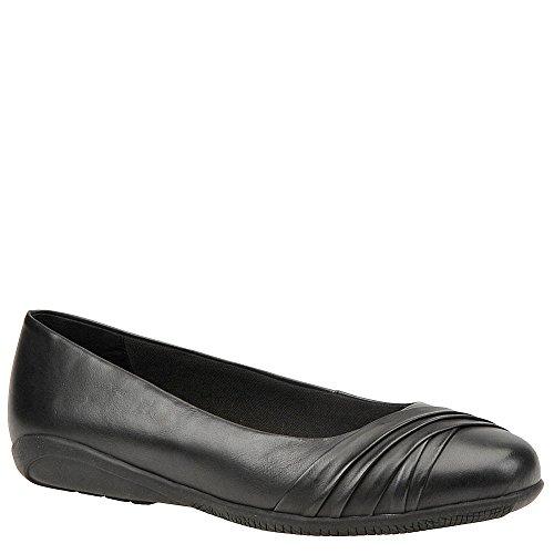 Flick Wash Ballet Black Walking Waxy Flats Closed Cradles Toe Womens qwaS4U