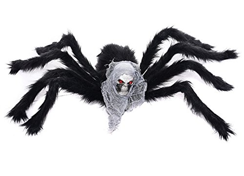 "Halloween Black Spider – Autbye 2017 New Style Large Skull Spider(75cm/29.5""), Plush DIY Toy for Parties, Halloween Decoration and Haunted House -"