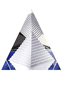 Pirámide de cristal egipcio Estatua Rare Estatua Mini Craft joyas decoración del hogar 60mm