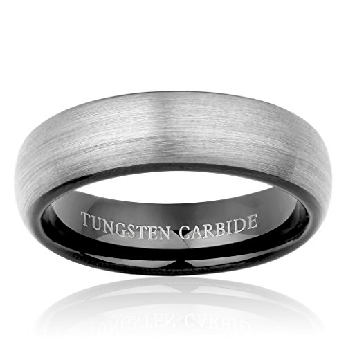 besteel jewelry mens tungsten carbide ring brushed wedding With tungsten carbide wedding rings philippines