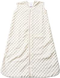 SleepSack Plush Dot Velboa Wearable Blanket, Cream, Medium