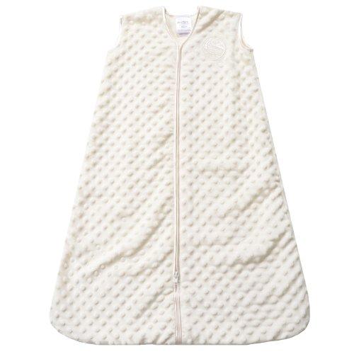 HALO-SleepSack-Plush-Dot-Velboa-Wearable-Blanket-Cream-Medium