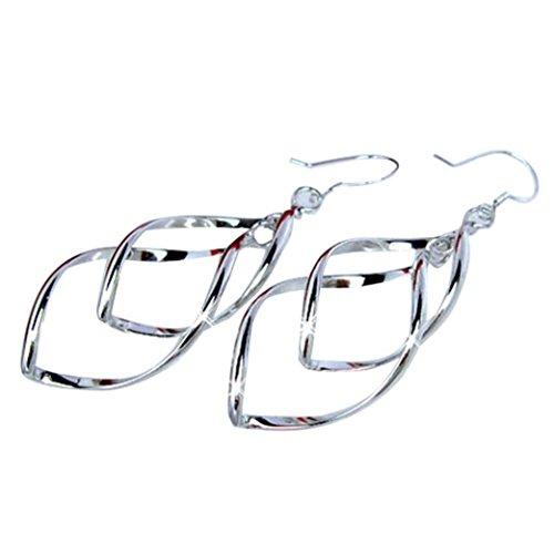Fashion Women Earings Alloy Plated Stud Dangle Eardrop Jewelry Silver Laimeng_World (Silver) -  Laimeng Pro