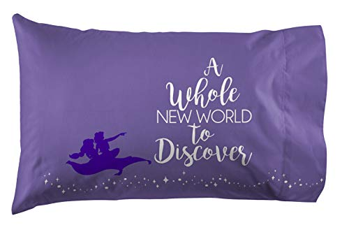 Jay Franco Disney Aladdin Magic Carpet 1 Pack Pillowcase - Double Sided Kids Super Soft Bedding (Official Disney Product) Disneys Aladdin Magic Carpet