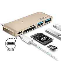 QacQoc GN21B Premium Tipo-C Hub con suministro de energía