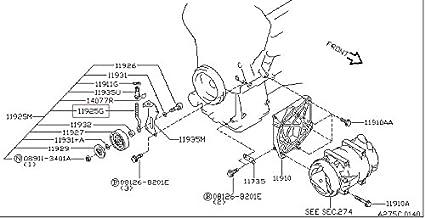 Amazon.com: Infiniti Genuine Compressor Mounting ing ... on