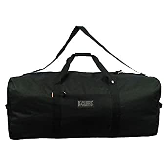 Heavy Duty Cargo Duffel Large Sport Gear Drum Set Equipment Hardware Travel Bag Rooftop Rack Bag (21 Inch, Black)