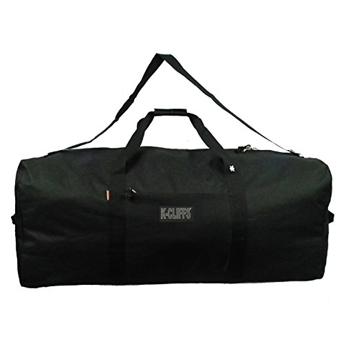 Heavy Duty Cargo Duffel Large Sport Gear Drum Set Equipment Hardware Travel Bag Rooftop Rack Bag (24 x 12 x 12, Black)