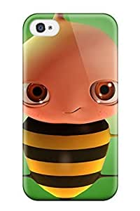 Anti-scratch And Shatterproof Humor Cartoon Phone Case For Iphone 4/4s/ High Quality Tpu Case
