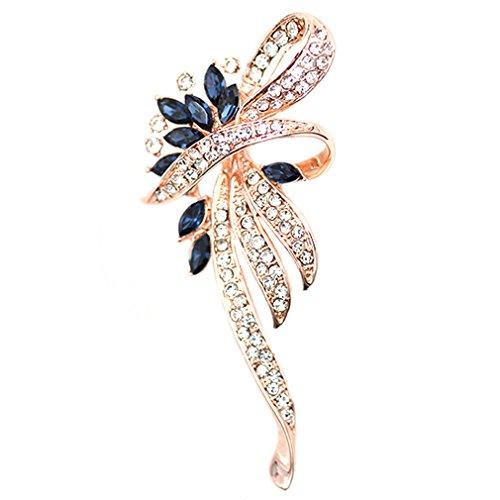 Maikun Fashion Plaza Womens Artificial Sapphire Flower Wreath Cubic Zircon Pin Brooch