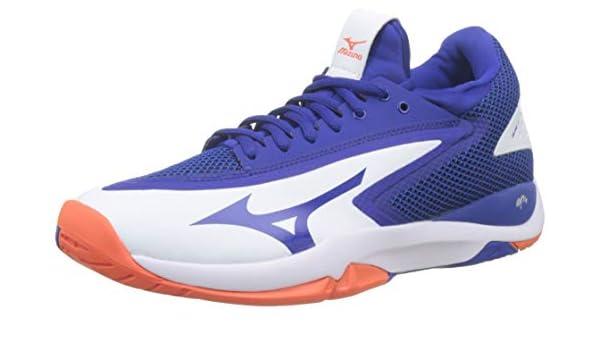 Mizuno Wave Impulse AC, Zapatillas de Tenis para Hombre, Blanco (White/Reflex Blue/Nasturtium 27), 45 EU: Amazon.es: Zapatos y complementos