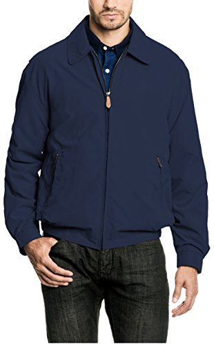 London Fog Men's Zip-Front Golf Jacket (Large, Sapphire)