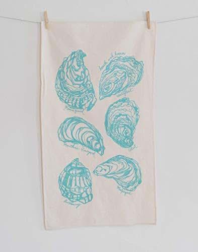Amazon.com: Oyster Tea Towel in Mint Green - Flour Sack