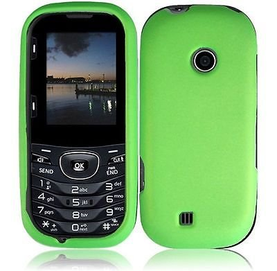 For LG Cosmos 3 VN251S LG Cosmos 2 VN251 Rubberized - Neon Green (Cell Phone Cases Lg Cosmos 3)