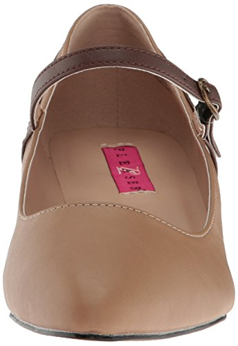 425 Fab Faux Label brown Pink Leather Tan Pleaser qA6T7tnwE