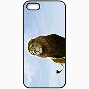 Personalized iPhone 5 5S Cell phone Case/Cover Skin Aslan in narnia dawn treader movies Black