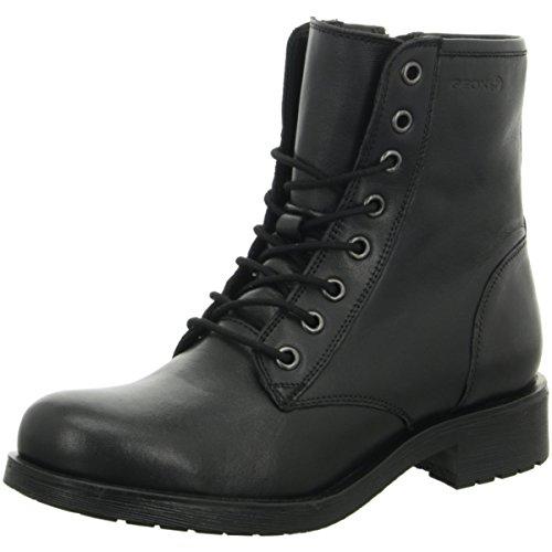 Geox Women's D746RB Rawelle Biker Boots Black