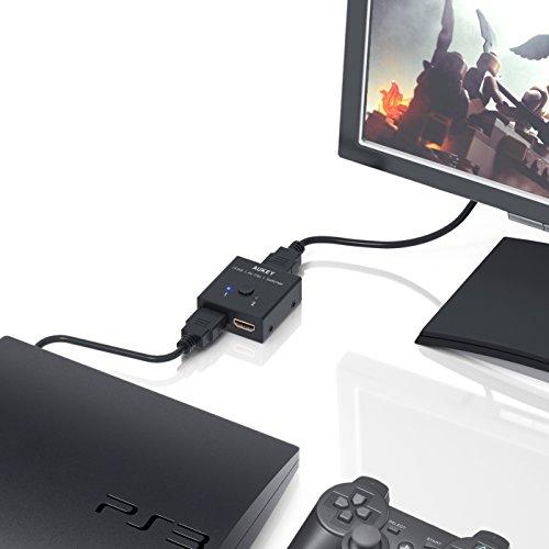 Aukey HDMI切替器 2in1 セレクター 分配器 PC PS3 テレビ 4K対応 HA-H04
