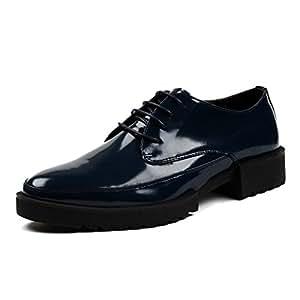 5e63070b09e89 RENHONG Zapatos De Vestir De Negocios Casual De Cuero Brogues Suela Gruesa  Derby De Boda De