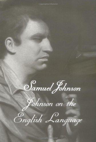 The Works of Samuel Johnson, Vol 18: Johnson on the English Language