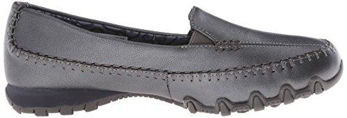 Skechers BikersPedestrian - Zapatillas de material sintético para mujer Pewter