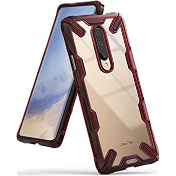 """Ringke Fusion-X Designed for OnePlus 7 Pro Case Impact Resistant Protection Cover for OnePlus 7 Pro 5G (6.7"""") - Ruby Red"""