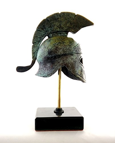 Ancient Greek Bronze Replica of Athenian Helmet Bearing an Owl on a (Bronze Greek Helmet)