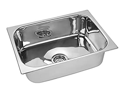 Jindal Kitchen Sink Stainless Steel Sink, Size 16 X 18 X 8 Inches, 204