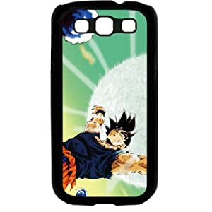 Dragon Ball Manga Comic Slim SON GOKU Samsung Galaxy S3 SIII I9300 TPU Soft Black or White case (Black)