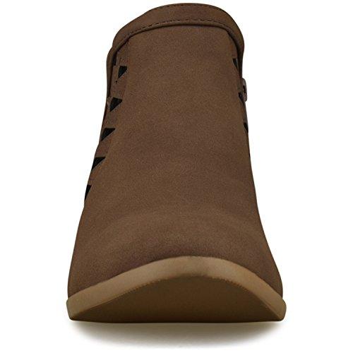 C Bootie Toe Premier Ankle Strap Multi Women's Standard Closed Brown Lt C00qUwgv