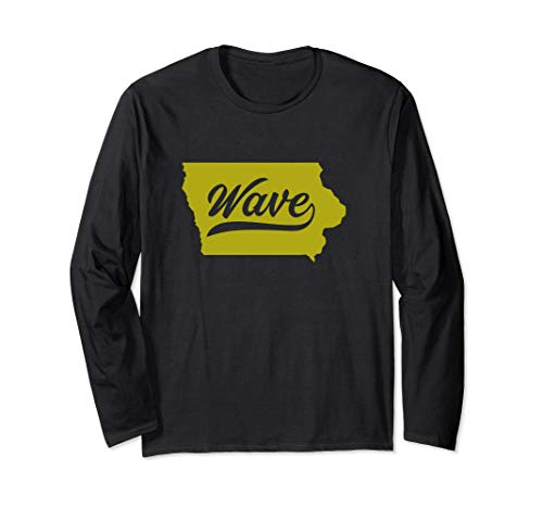 State of Iowa Wave Long Sleeve Shirt For Fans and Residents]()