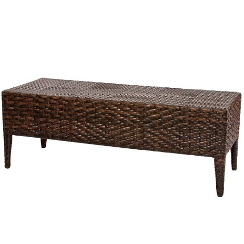 Great Deal Furniture Hobbs Multi-Brown Wicker Bench