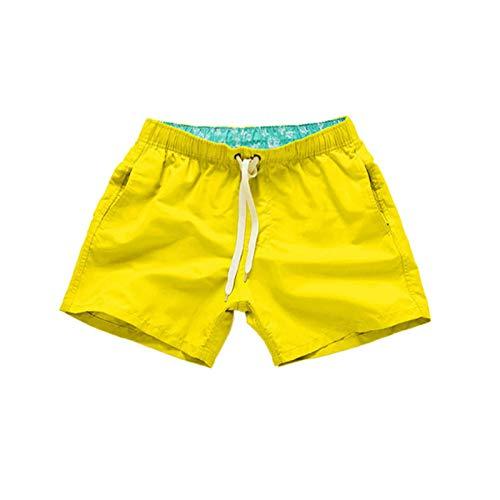 YHIIen Zwemshorts voor heren, boxershort met zakken met zak en verstelbaar trekkoord, zomer, sneldrogende zwembroek…