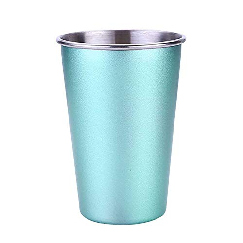 Cheap Sale Picnic Water Mug Drinking Coffee Cup Double Stainless Steel Cover Camping Cup Mug Beer Tea Mug Holiday Fishing Outdoor Tableware Relieving Heat And Sunstroke Camping & Hiking Campcookingsupplies