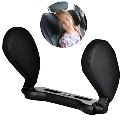 Cozywind Reposacabezas Coche,Ajustable para el Cuello, Cuello Almohada de Viaje para Asiento de Automovil para Adultos y Ninos (Negro)