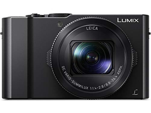 (PANASONIC LUMIX LX10 Camera, 20.1 Megapixel 1in Large Sensor, LEICA DC Lens 24-72mm F1.4-2.8, DMC-LX10K (USA BLACK) (Renewed))