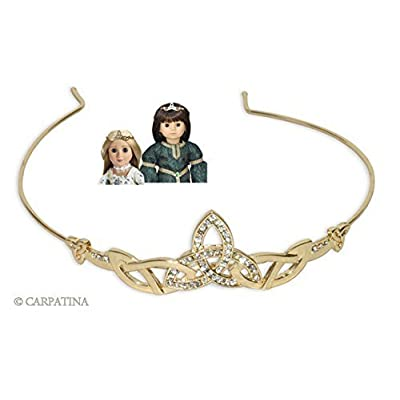 Celtic Tiara for 18 inch Carpatina, American Girl or AGFAT Dolls: Toys & Games