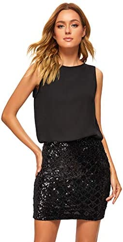 Romwe Womens Layered Fashion Sparkle product image