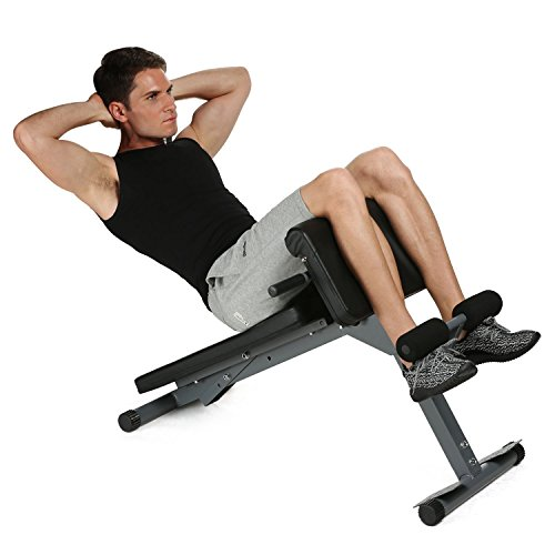 Adjustable Hyper Back Extension Multi Workout Stamina Pro Ab Bench Health Abdominal Core Strength Fitness for Gym Home Office(US STOCK) by Garain