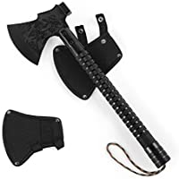 RZChome Portable Outdoor Survival Axes and Hatchets for Camping Survival Axe Head Multitool Hiking Hunting Backpacking Emergency Adventures