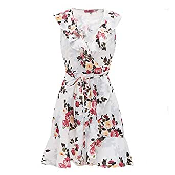 Culater Vestido Fashion Womens Floral Print Beach Style ...