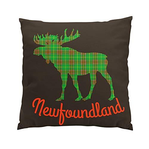 Newfoundland Tartan (Suklly Newfoundland Tartan Decorator Moose Plush Hidden Zipper Home Sofa Decorative Throw Pillow Cover Cushion Case 20x20 Inch Square Two Sides Design Printed Pillowcase)