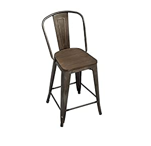 bistro counter stools. Tabouret Vintage Steel And Metal Bistro Counter Stools (Set Of 2)