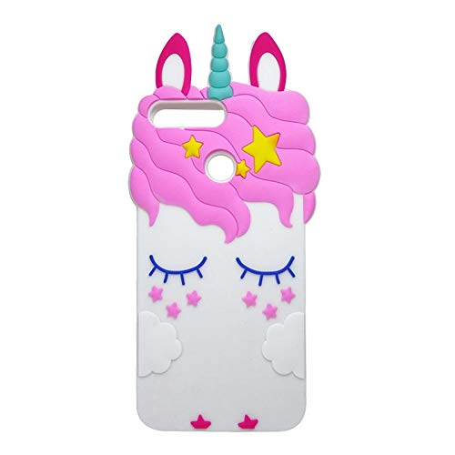 "92fafe92446 FLORENCE_XAVIA Case for Huawei Honor 7A Pro 5.7"" Silicone Cartoon  Unicorn Stitch Cat 3D Phone"