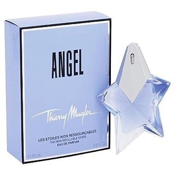 e6ed11a167 Amazon.com   ANGEL by Thierry Mugler 0.8 Ounce   25 ml Non Refillable Eau  de Parfum Women Spray   Beauty