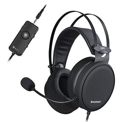 NUBWO PS4 Xbox One Headset 7.1 Surround Sound PC USB Gaming Headset mit Rauschunterdrückung Mic, Over Ear Kopfhörer mit Game & Chat Lautstärkeregler für PC/Playstation 4 / Xbox 1 product image
