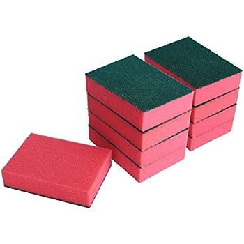 9-Pack Sanding Sponges,Fine Grit,3.85 x 2.75 x 1-Inch,Green/Pink,Honla