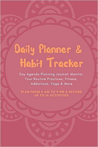 Daily Planner & Habit Tracker Day Agenda Planning Journal ...
