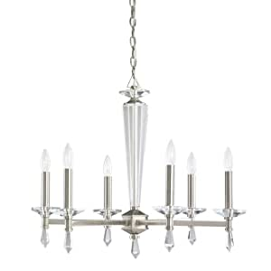 Kichler Lighting 1689PPW 6 Light Adriana Chandelier, Polished Pewter
